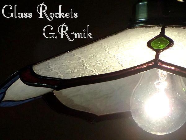 「麗月花」 ステンドグラス ペンダントランプ 照明 和 洋風(再販)