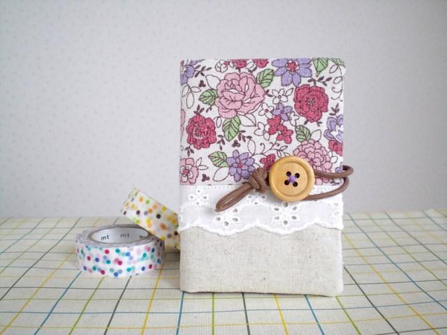花柄カードケース YUWA紫