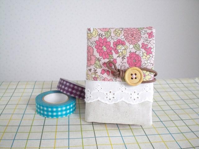 花柄カードケース YUWAピンク