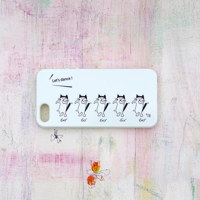 めがねを外して踊るねこ iPhone case(5/5S)