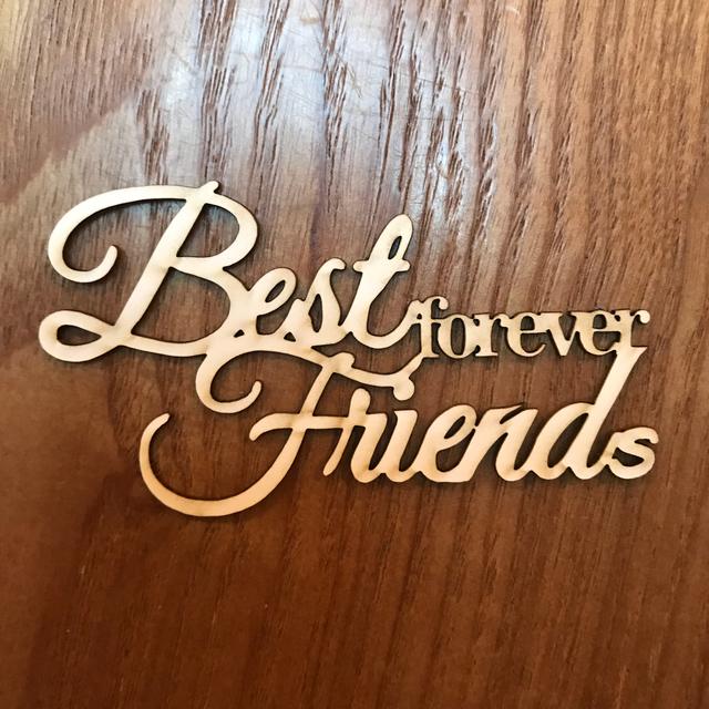 best friends forever タイトルチップボード 3個入り ハンドメイド