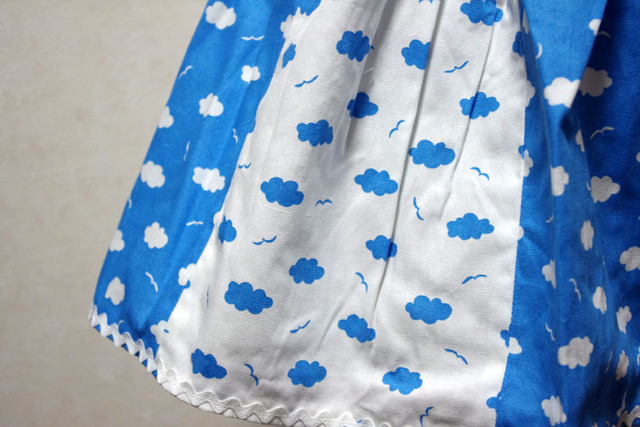 空色スカート スカイブルー
