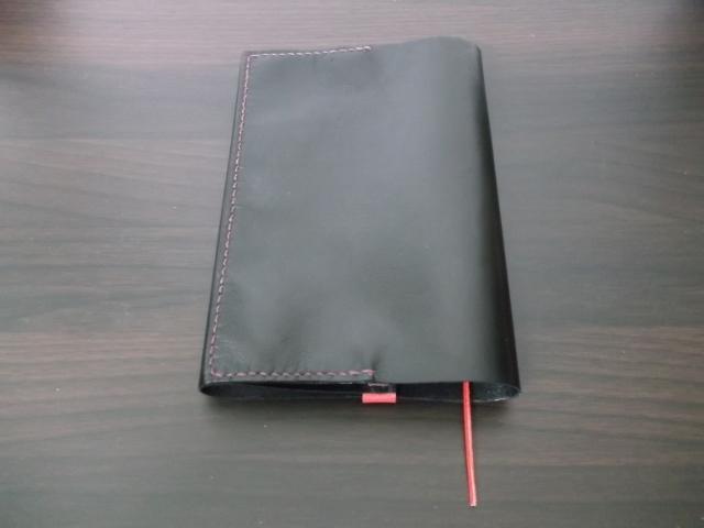 ≪売り切れ≫レザーブックカバー(ブラック・文庫本サイズ 6cmまで対応)