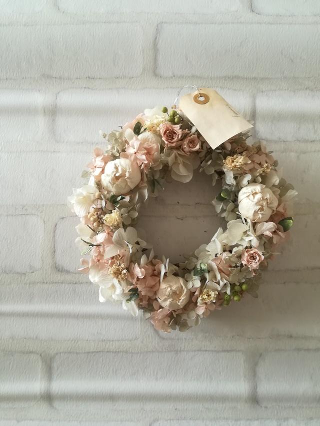 【送料無料】香るピンクグレーの wreath