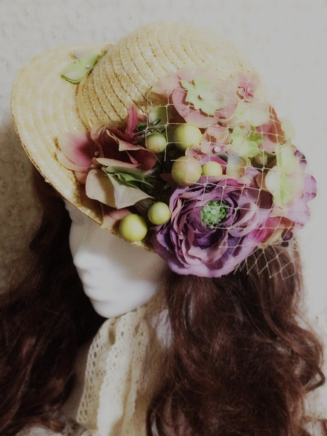 Romantic flower Hat@shinamo