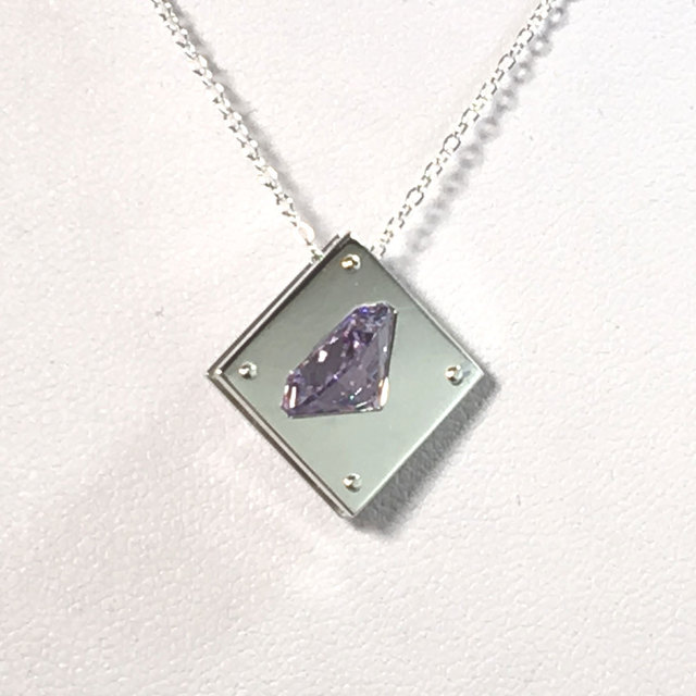 Cz in the square pendant silver cubiczirconia cz in the square pendant silver cubiczirconia mozeypictures Choice Image