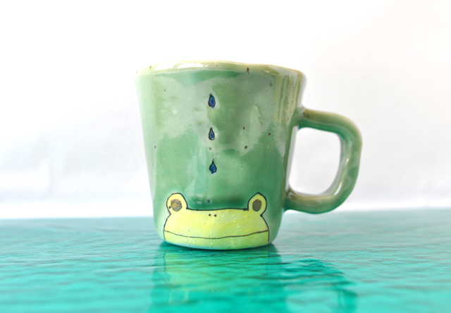 黄色カエルのミニマグ