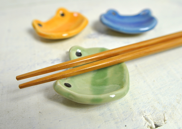 カエルの箸置き『 3色セット 』