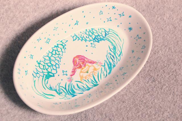 おさげちゃんのグラタン皿
