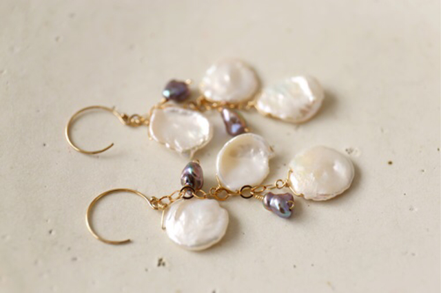 14KGF freshwater pearl baroque pea...