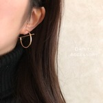 ◇293◇16KGP Round Stick Bar Earring/Pierce