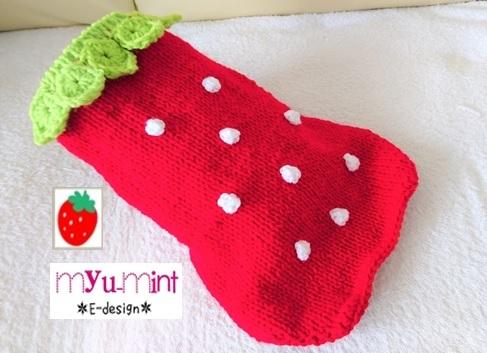 いちごのセーター 小型犬猫ちゃん用 送料無料 y-29