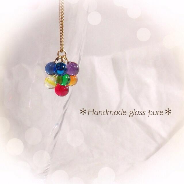R-93 *ハッピーベリー*ガラスの果実のネックレス