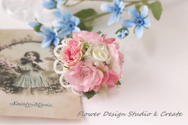 卒業式・入学式に?八重桜と薔薇とリボン...