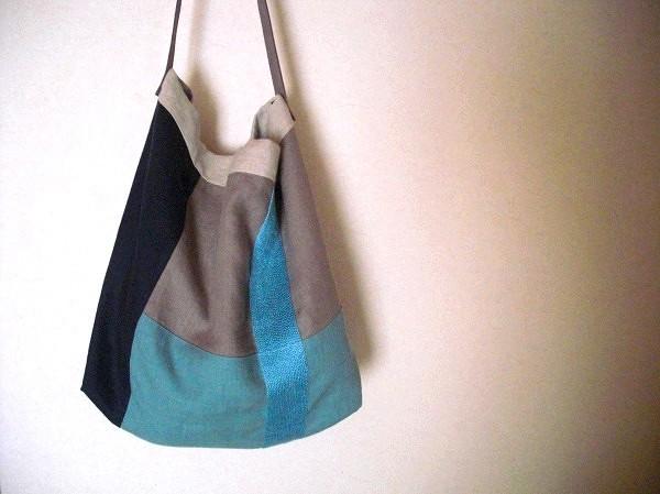 itoiro bag (blue&beige)