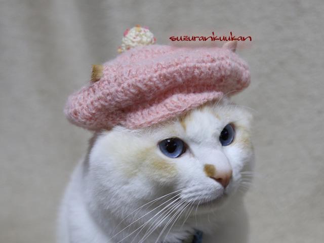 【猫用】キャスケット帽<スイートピンク>