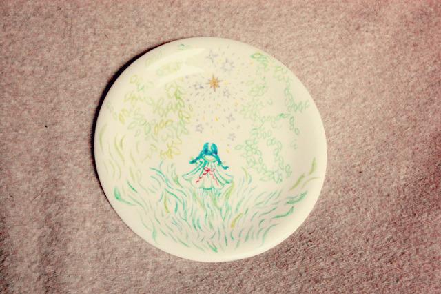 ミドリおさげちゃんのお皿