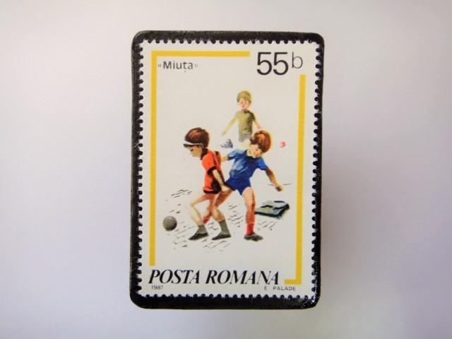 ルーマニア 切手ブローチ3379