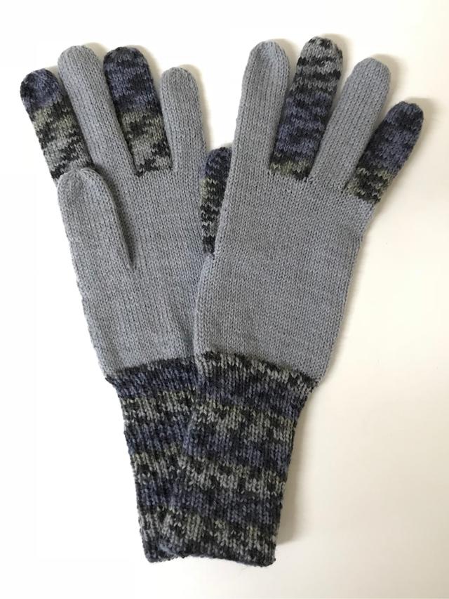 手編み5本指手袋 No.59
