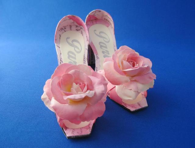 ハイヒール&サシェ (Pink flower)