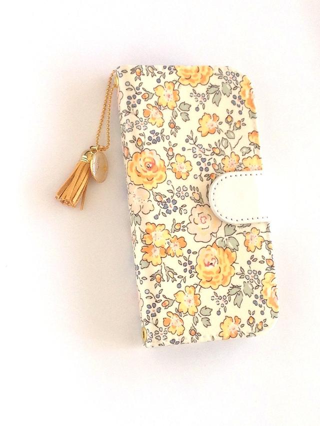 リバティ iphone6 6s 7 8 手帳型ケース...