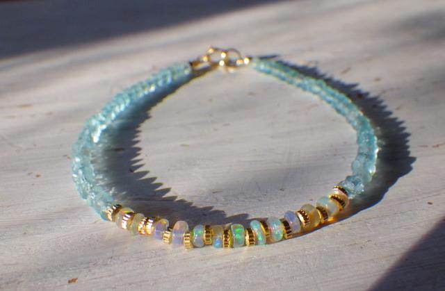 Opal & Sea Bracelet *14kgf* プレシャ...