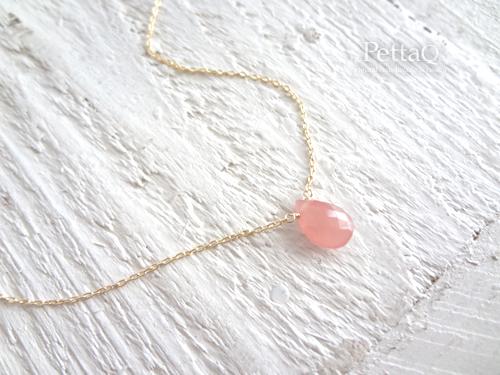 再販3【K14GF】愛の石・インカローズのネックレス