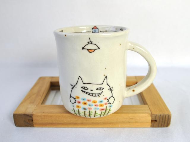 猫マチ25丁目の花工場 マグカップ【白】
