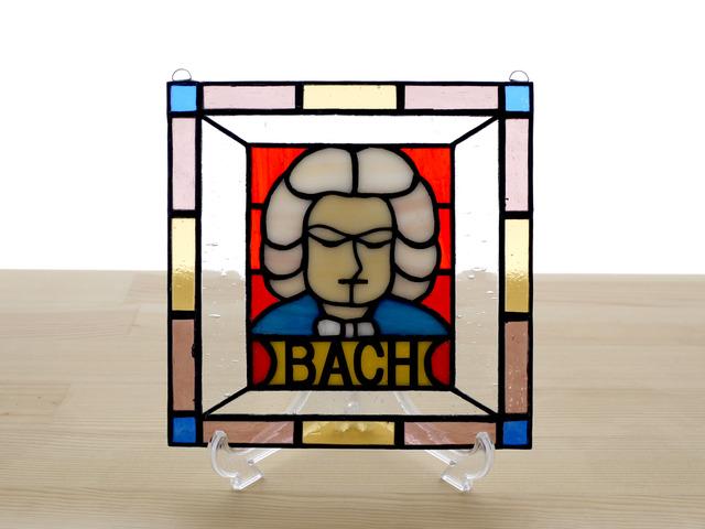 ステンドグラス ミニパネル バッハ 15cm