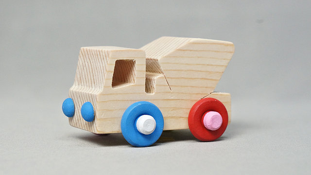 木の車(ミキサー車)手作りキット