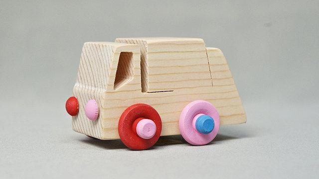 木の車(ゴミ収集車)手作りキット