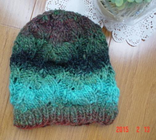 野呂英作ガーベラ毛糸のknit帽(キッズサイズ)