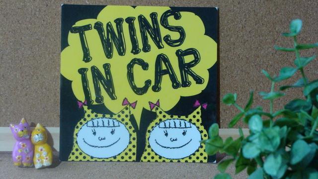 【再販】女の子 姉妹 双子 ステッカー TWINS IN CAR