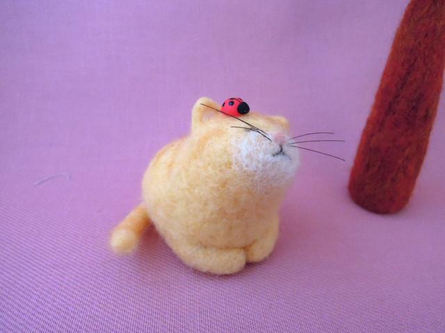 てんとう虫と猫2