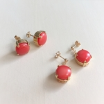vintage shell earrings (coral)