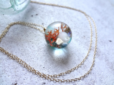<SOLD> Seascape Necklace W