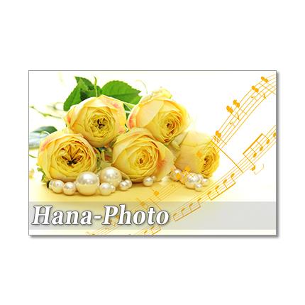 1287) 楽譜と花 バラなど      ポスト...