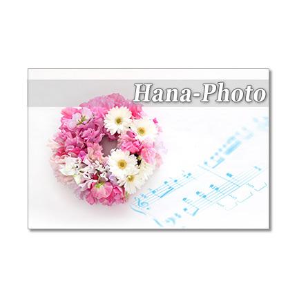 1289) 楽譜と花 リースなど     ポスト...