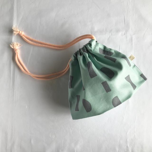 巾着袋 e (紐ベビーピンク)