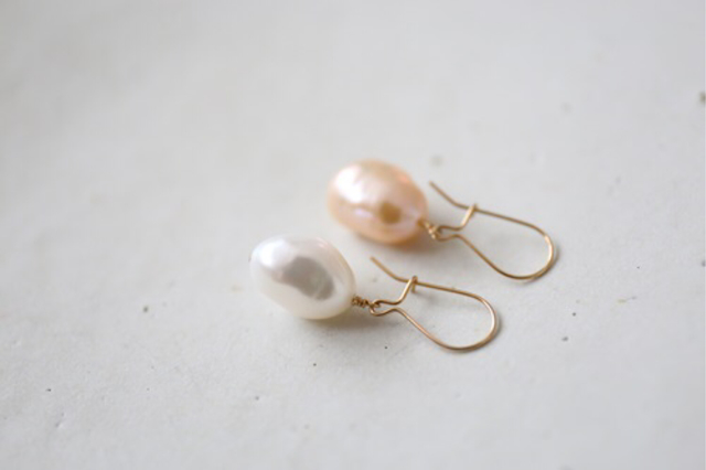14KGF baroque pearl pierce [kgf737]