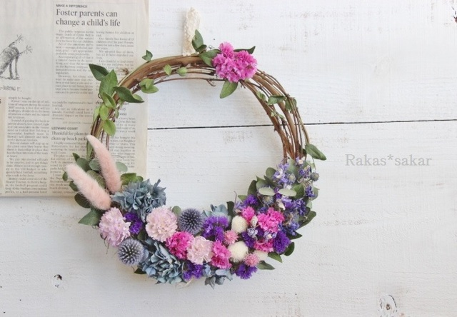 lovely petal wreath