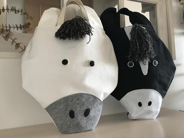 特大お馬さんのバッグ〈白馬〉