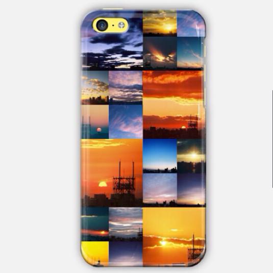 夕陽の写真のiPhoneケース