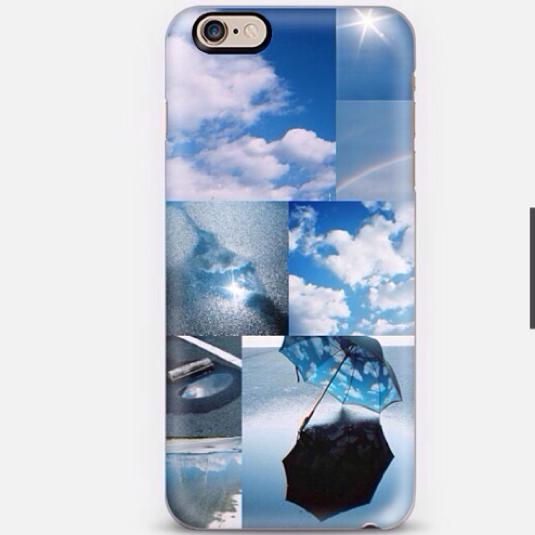 雨上がりの空の写真のiPhoneケース
