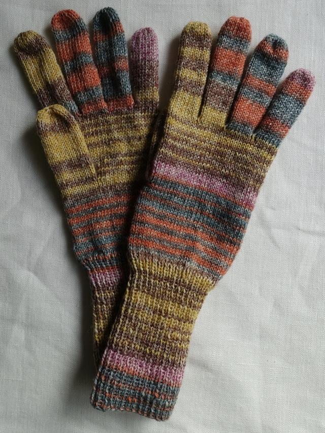 手編み5本指手袋 No.60