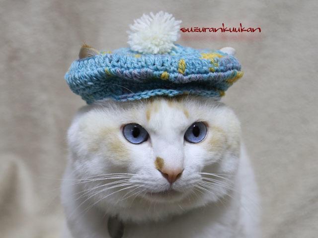 キャスケット帽<ナイルブルーミックス>