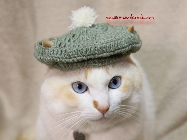 キャスケット帽<シェアーグリーン>