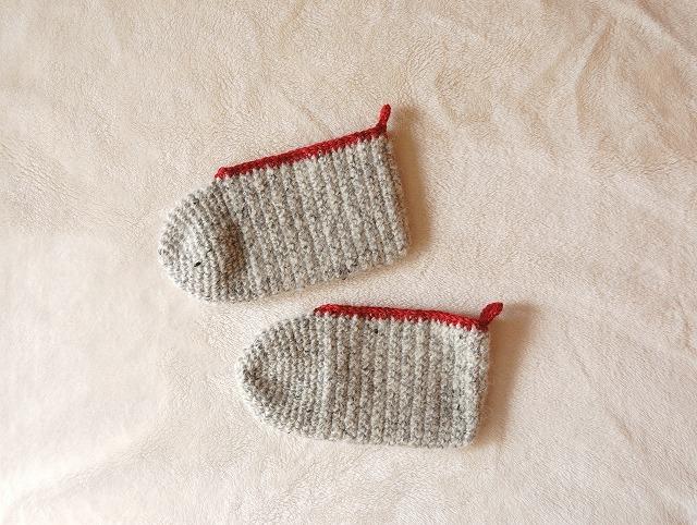 手編みの靴下  カバーソックス Cover s...