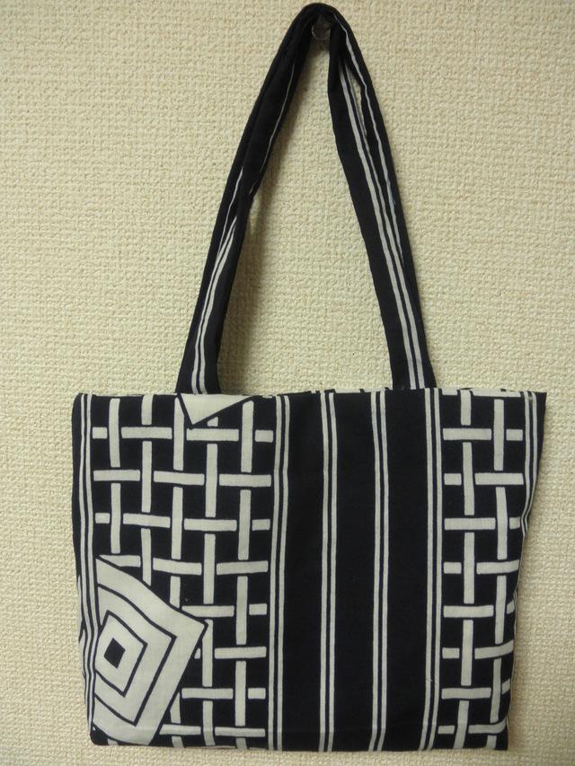 藍染め手提げ袋物(藍染めティッシュケ...