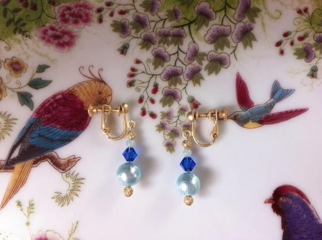 blue pearl earring